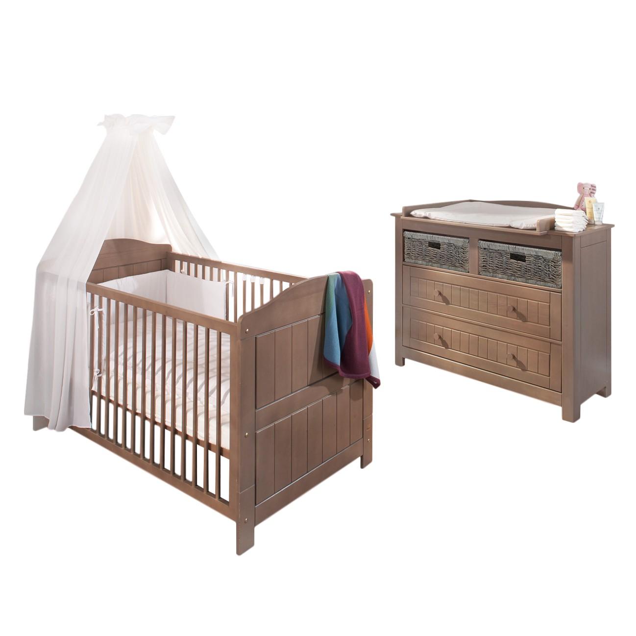 sparset jelka 2 teilig babybett und wickelkommode. Black Bedroom Furniture Sets. Home Design Ideas