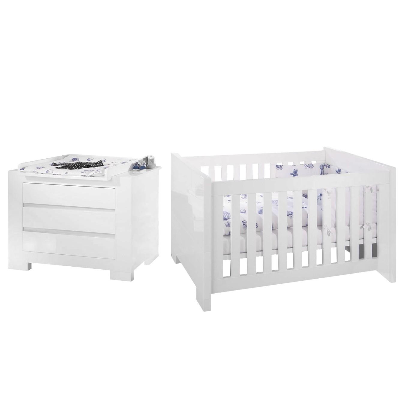 Home 24 - Ensemble économique pour chambre de bébé sky - vernis blanc, pinolino