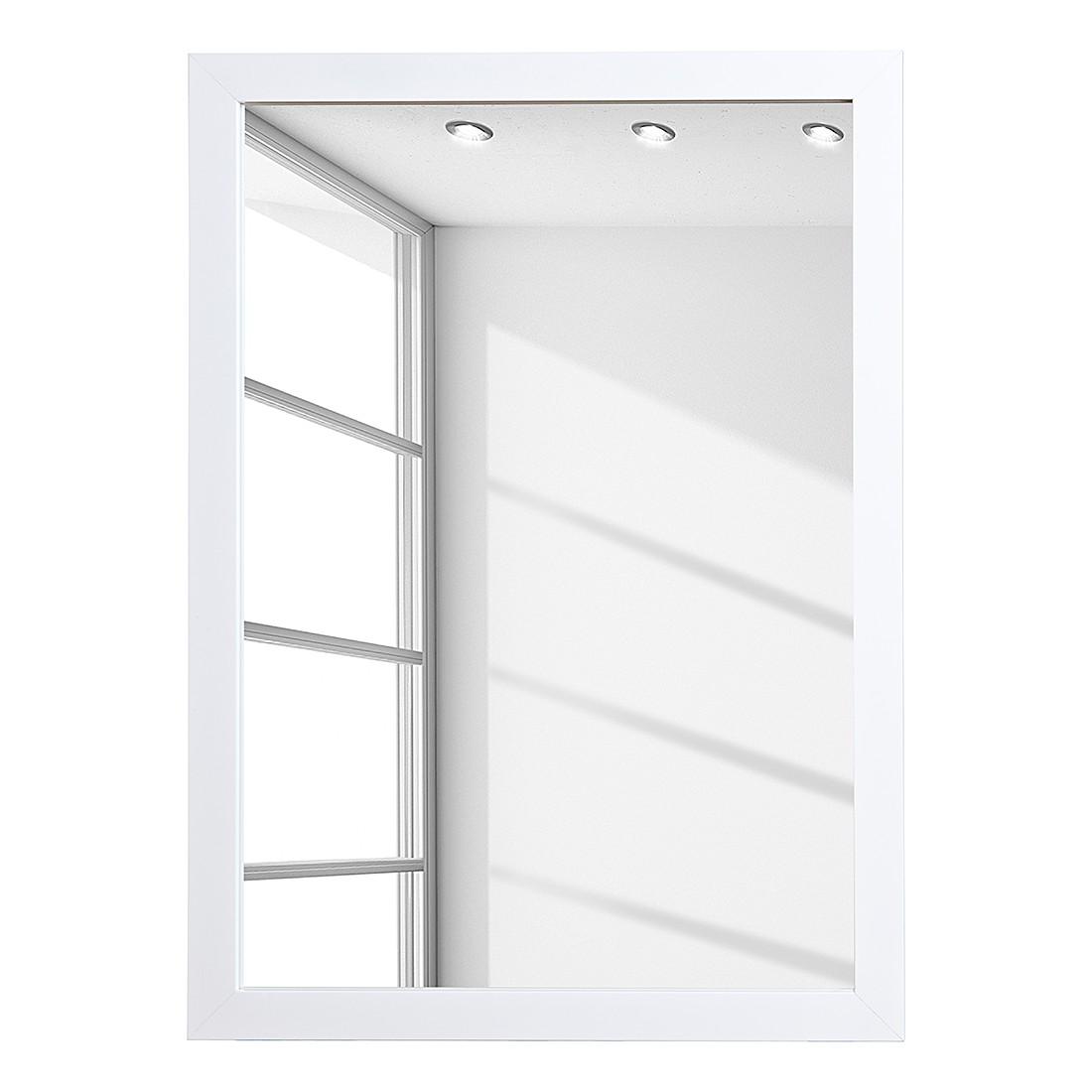 Spiegel Aja - 48x68cm - hoogglans wit, mooved