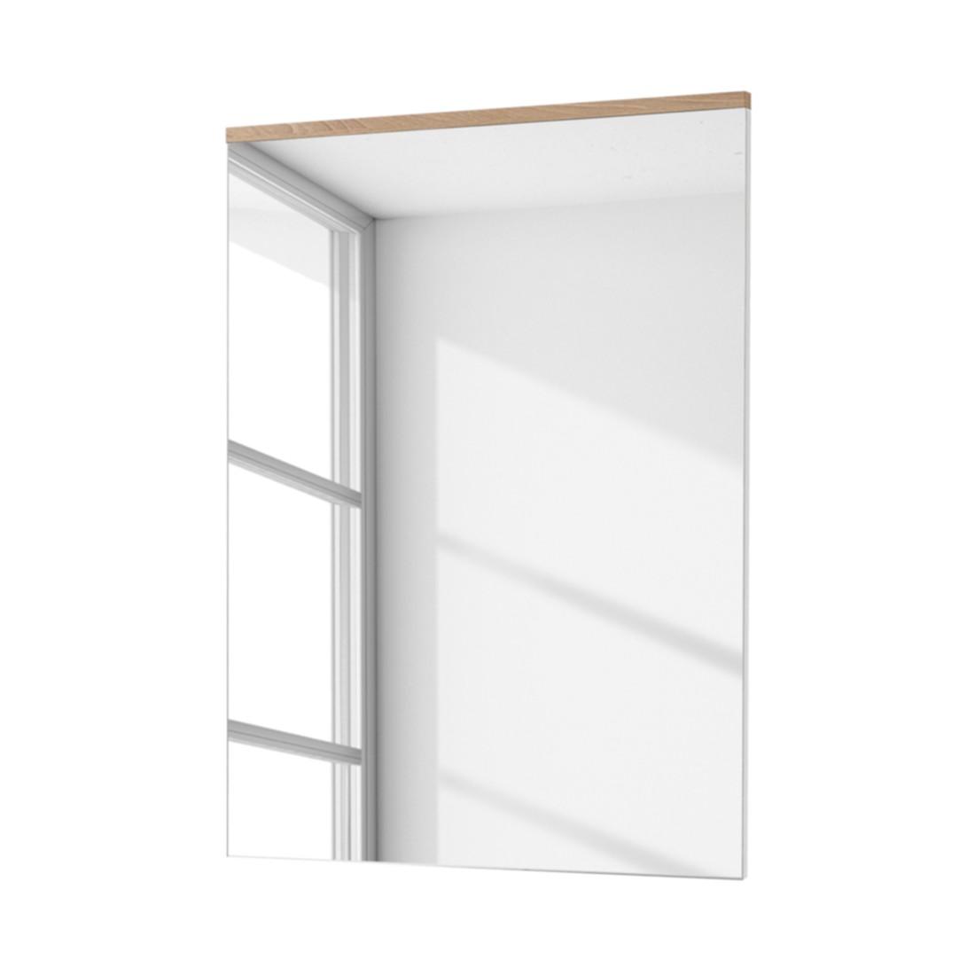 Spiegel Exterior - Hoogglans wit/beukenhouten look, Fredriks