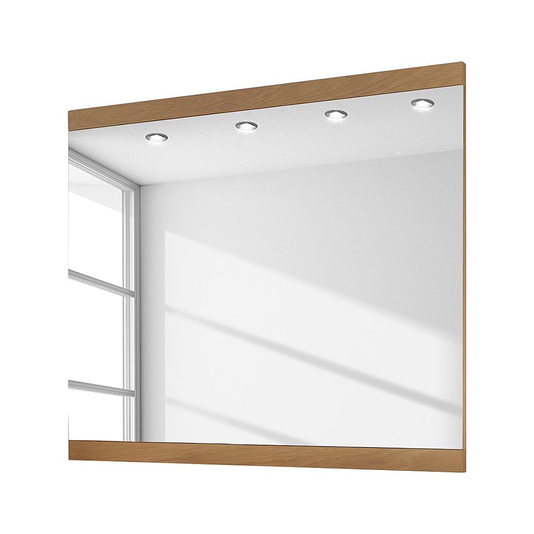 Miroir Allround II - Chêne sauvage brut de sciage - 82 x 80 cm, Voss