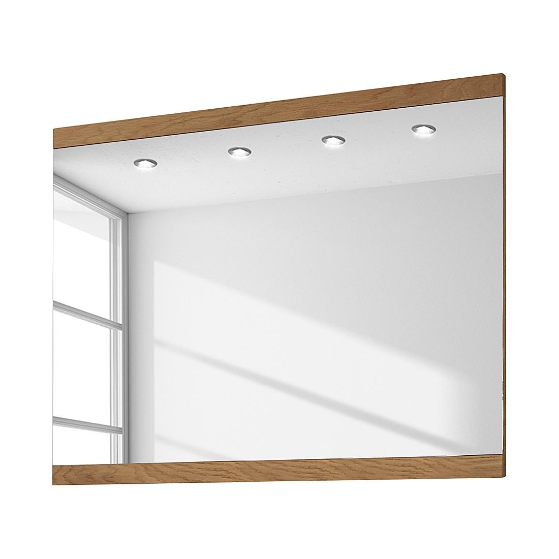 Miroir Allround III - Chêne sauvage brut de sciage - 99 x 80 cm, Voss