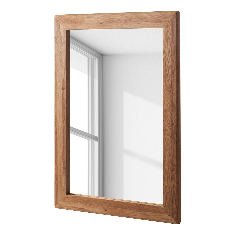 Miroir chene 100 cm noir prix et offres for Miroir chene