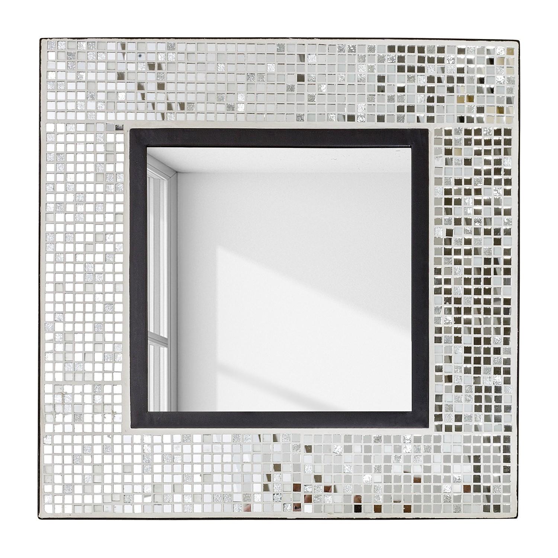 Spiegel Cuddalore - ijzer/spiegelglas - zilverkleurig/zwart, Jack and Alice