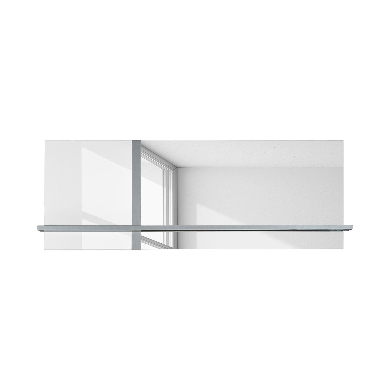 Spiegel Sacile - Hoogglans wit/zilverkleurig, Sciae