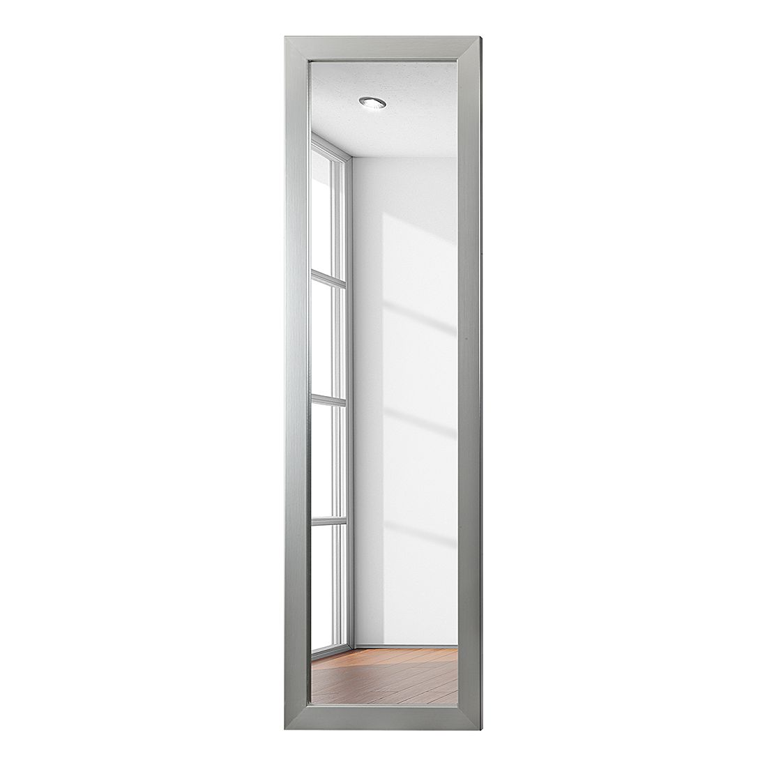 Miroir Skön II - 38 x 128 cm - Aspect acier inoxydable, roomscape