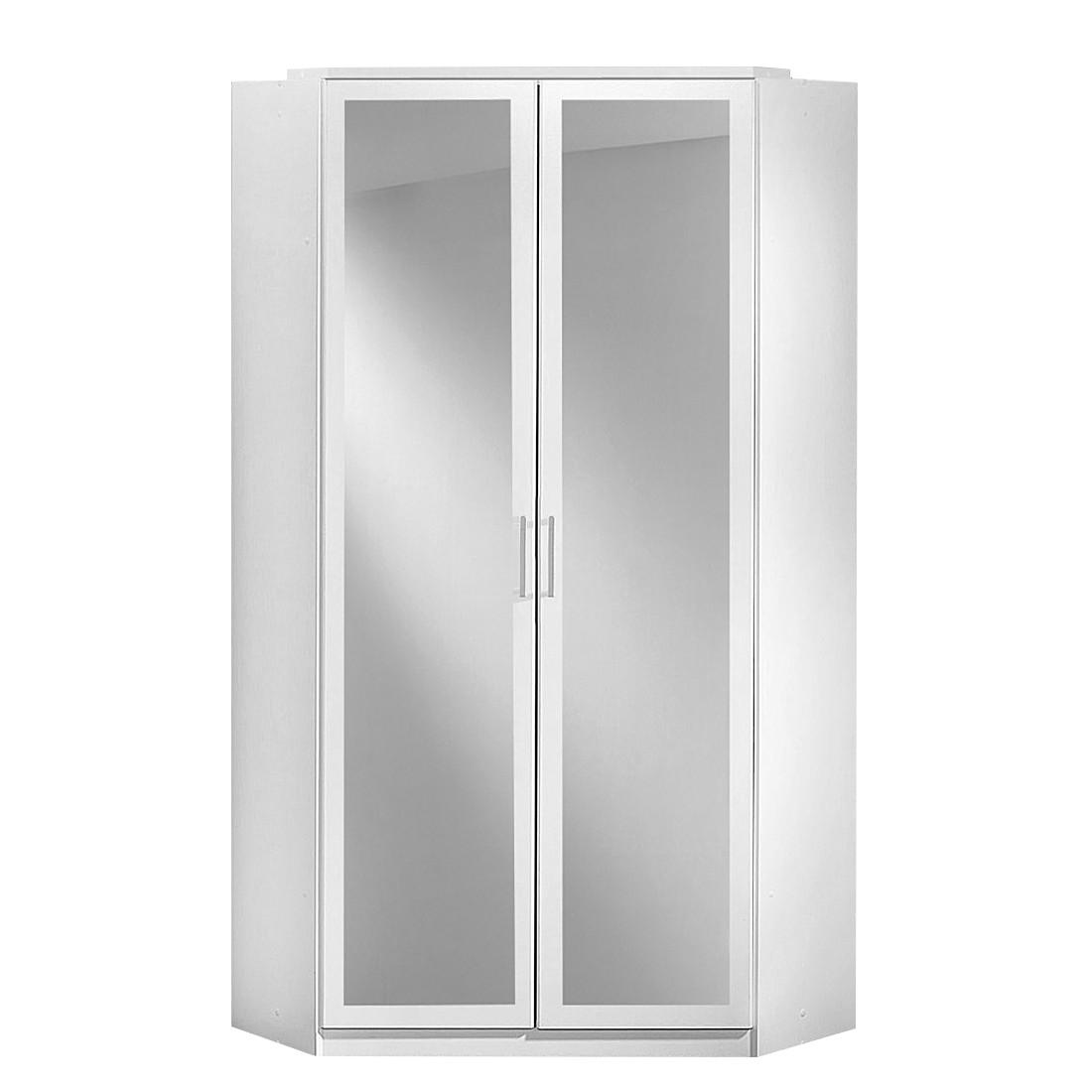 Eckkleiderschrank mit spiegel  Eckschrank Click (mit Spiegel) - Alpinweiß | home24
