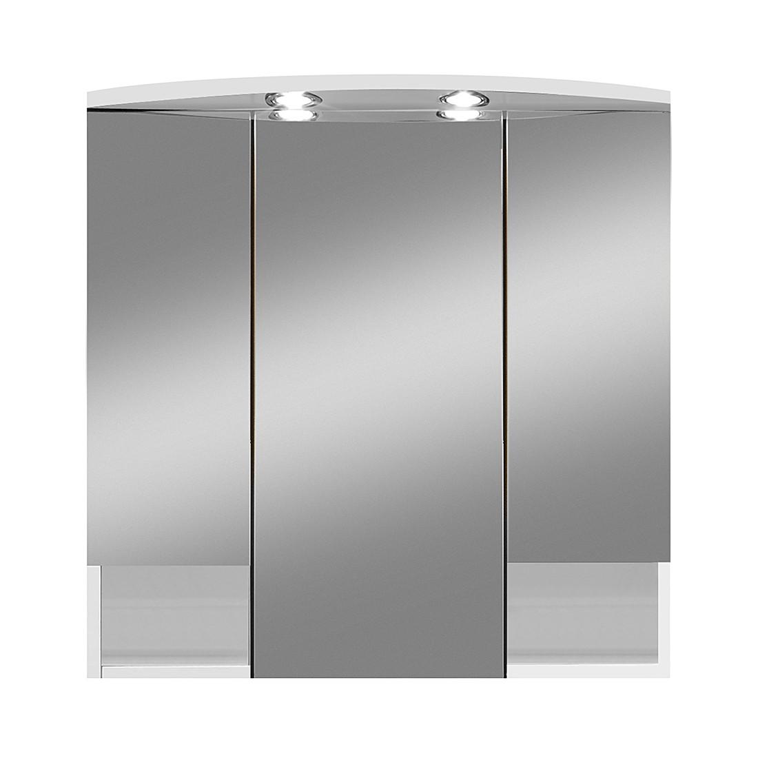 Armadietto a specchio Alesund (con illuminazione) - Bianco, Giessbach