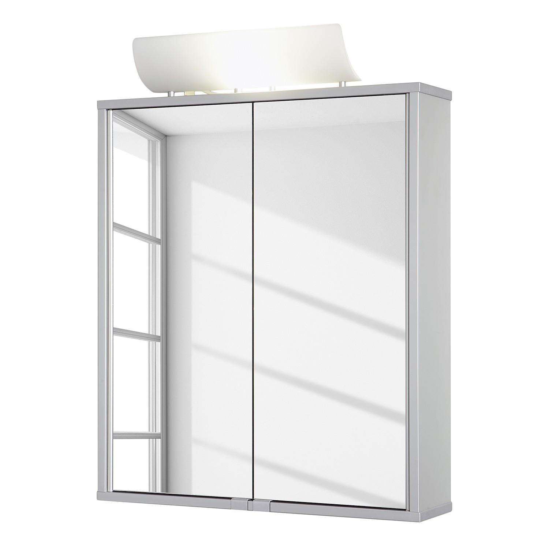 energie  A+_ Spiegelkast ALUsmart   aluminiumkleuren   verlicht_ Jokey
