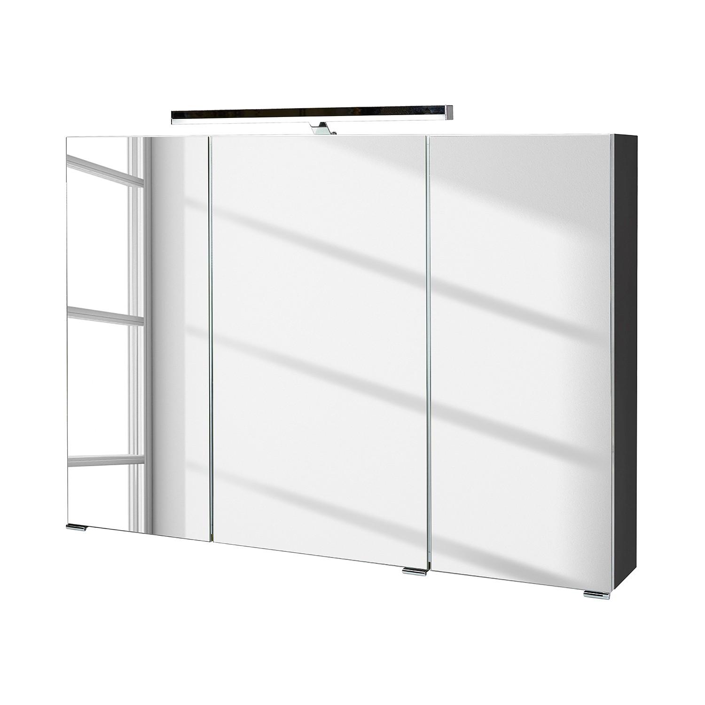 EEK A+, Spiegelschrank Arden inkl. Beleuchtung - Basaltgrau, Schildmeyer