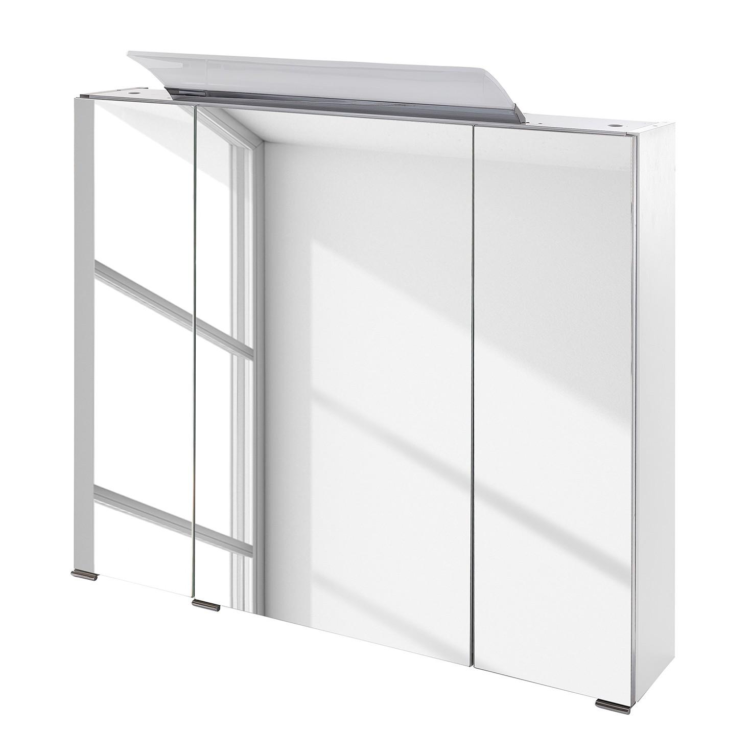 energia A+, Armadietto a specchio Bodo (illuminazione inclusa) - Bianco, Schildmeyer
