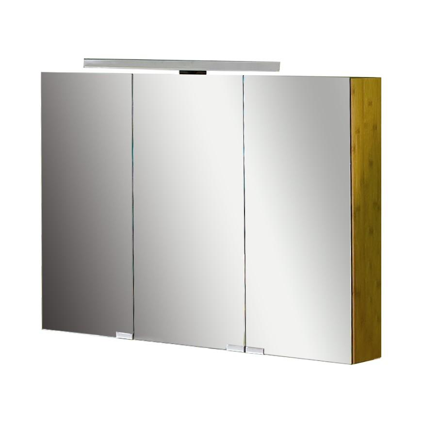 energia A+, Armadietto a specchio Bern - Bambù naturale, Schildmeyer