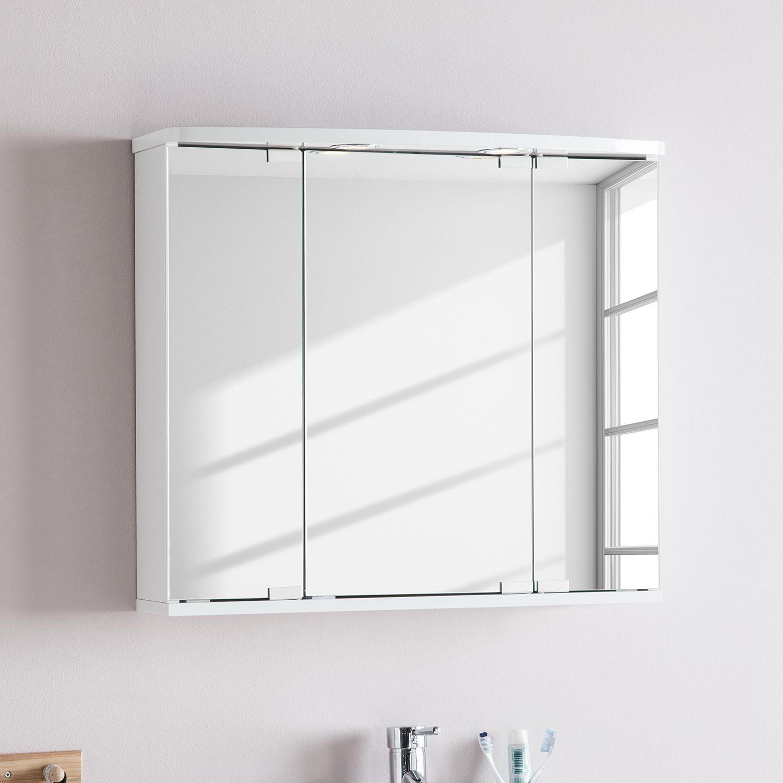 erstaunlich spiegelschrank mit ablage und beleuchtung. Black Bedroom Furniture Sets. Home Design Ideas