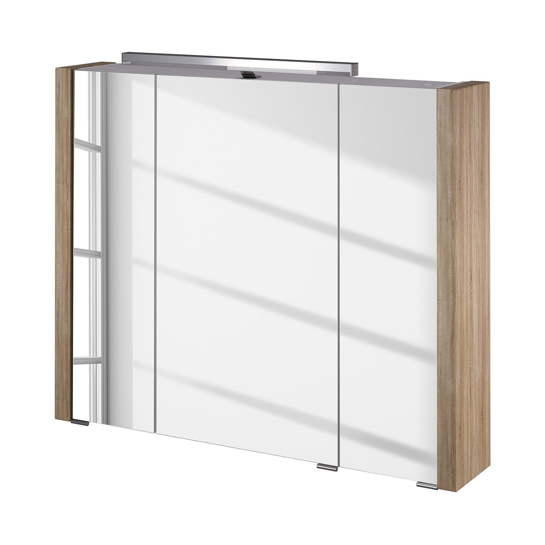 energia A+, Armadietto con specchio Kolind - Con illuminazione Effetto quercia Sonoma kolind II inclusa di, Schildmeyer