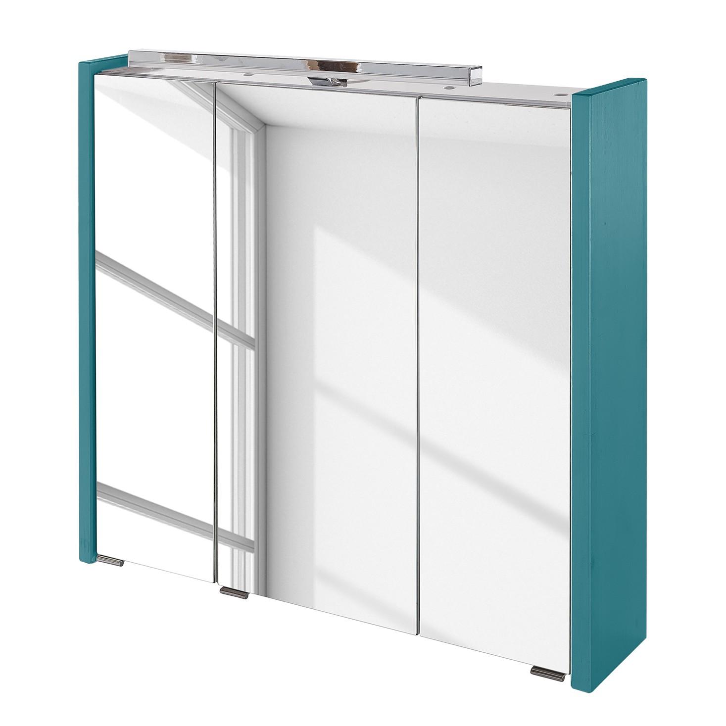 energia A+, Armadietto a specchio Paulina (illuminazione inclusa) - Bianco - 75 cm, Schildmeyer