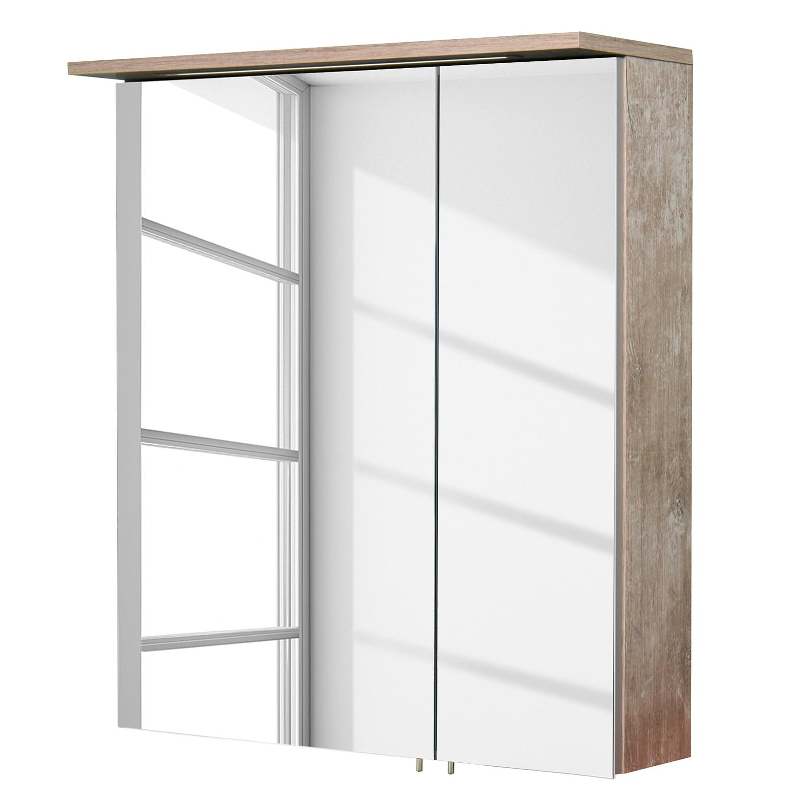 energie  A+_ Spiegelkast Milan inclusief verlichting   Findus eikenhouten look   60cm_ Schildmeyer