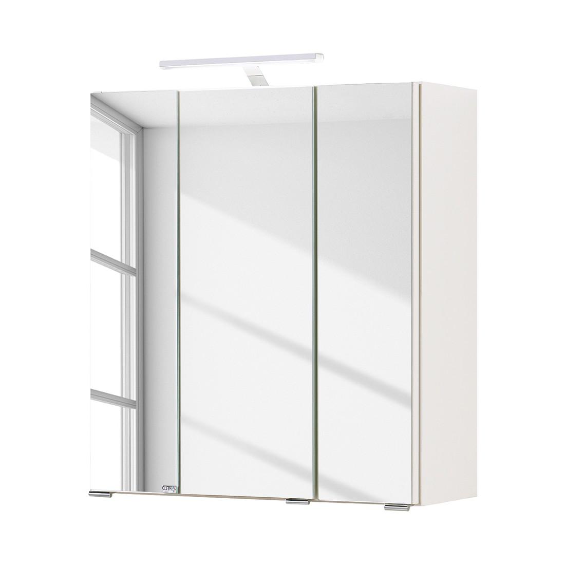 Armadietto a specchio Turda I con illuminazione inclusa - Bianco, Giessbach