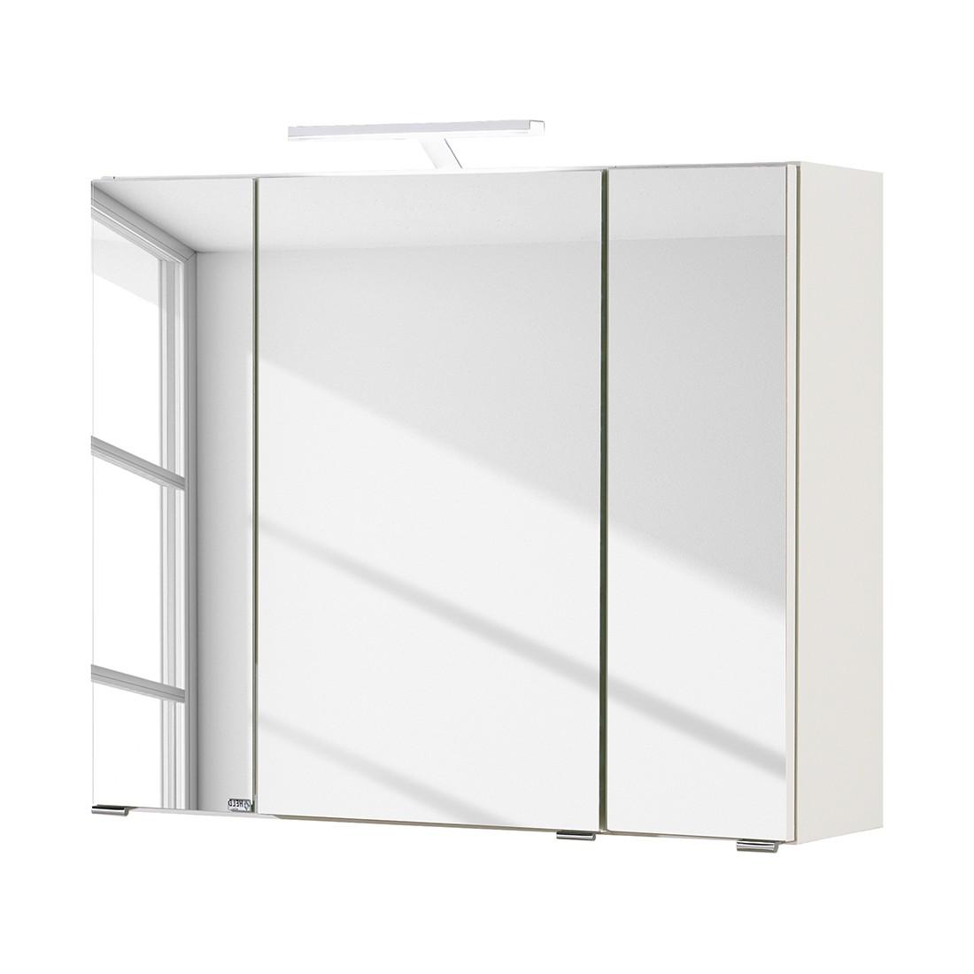 Armoire avec miroir Turda II - Avec éclairage Blanc, mooved