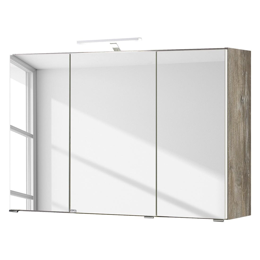 Armadietto a specchio Turda III - Con illuminazione Effetto quercia vintage, mooved