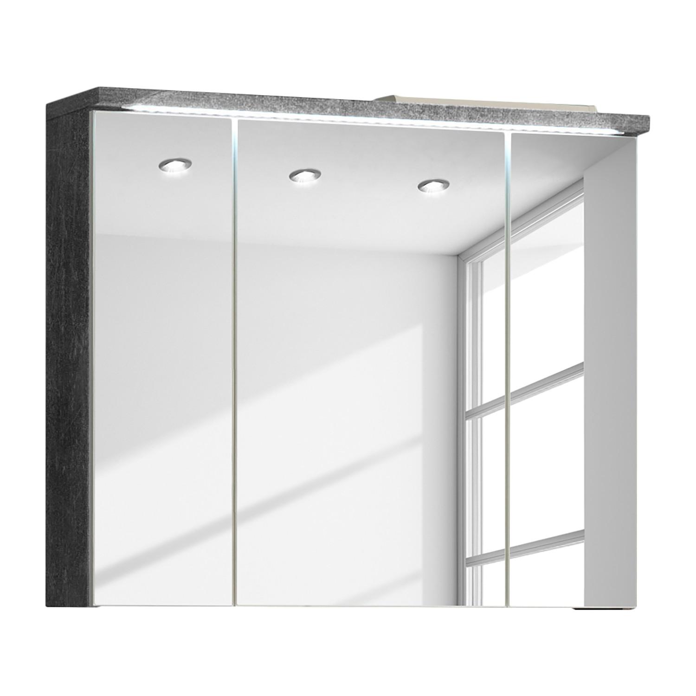 energia A+, Armadietto a specchio Wyntoon (illuminazione incl.) - Effetto granito reale, mooved