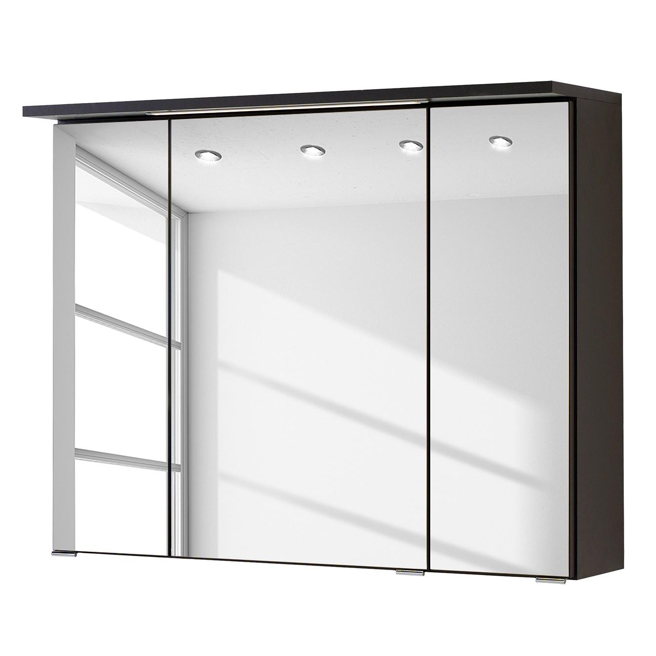 Armadietto a specchio Zeehan - Grigio - 80 cm, Fredriks