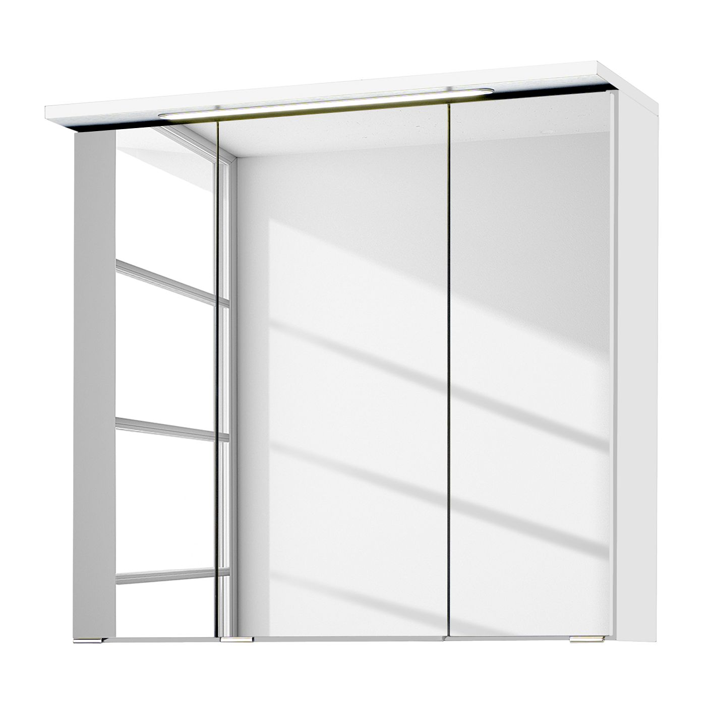 Armadietto a specchio Zeehan - Bianco - 70 cm, Fredriks