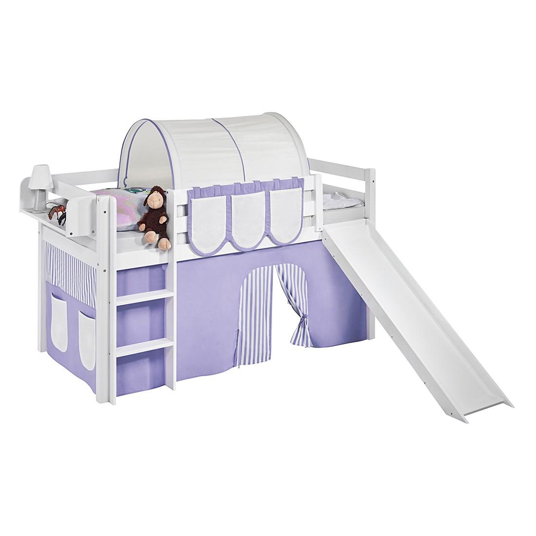 Kinderhochbett mit rutsche maße  Weisses Kinderhochbett Im: Manis h kinderhochbett arn weiß 90 x ...