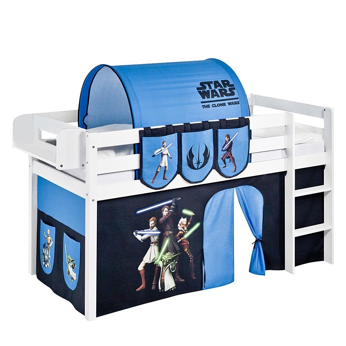 Lit mezzanine ludique JELLE Star Wars the Clone Wars - Avec rideaux - Blanc, Lilokids