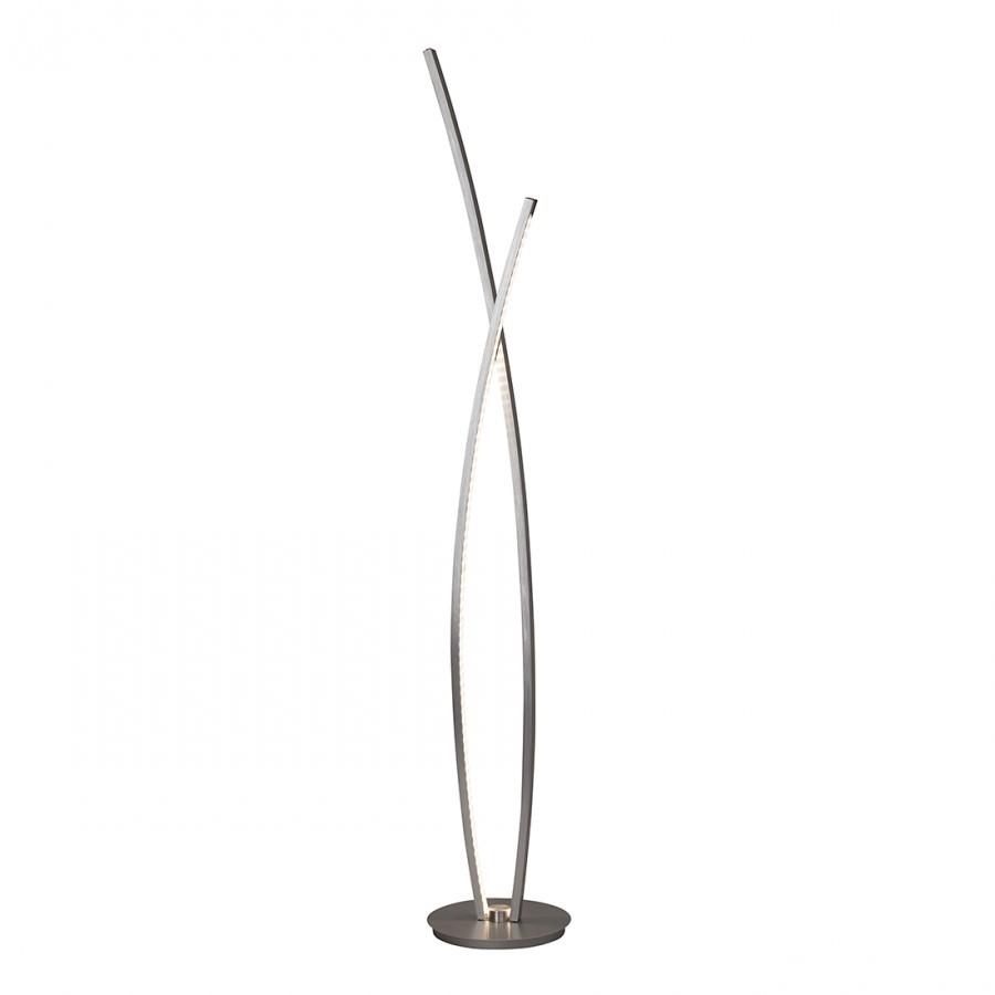 energie  A+, Staande lamp Art work - metaal/zilverkleurig kunststof 1 lichtbron, Brilliant