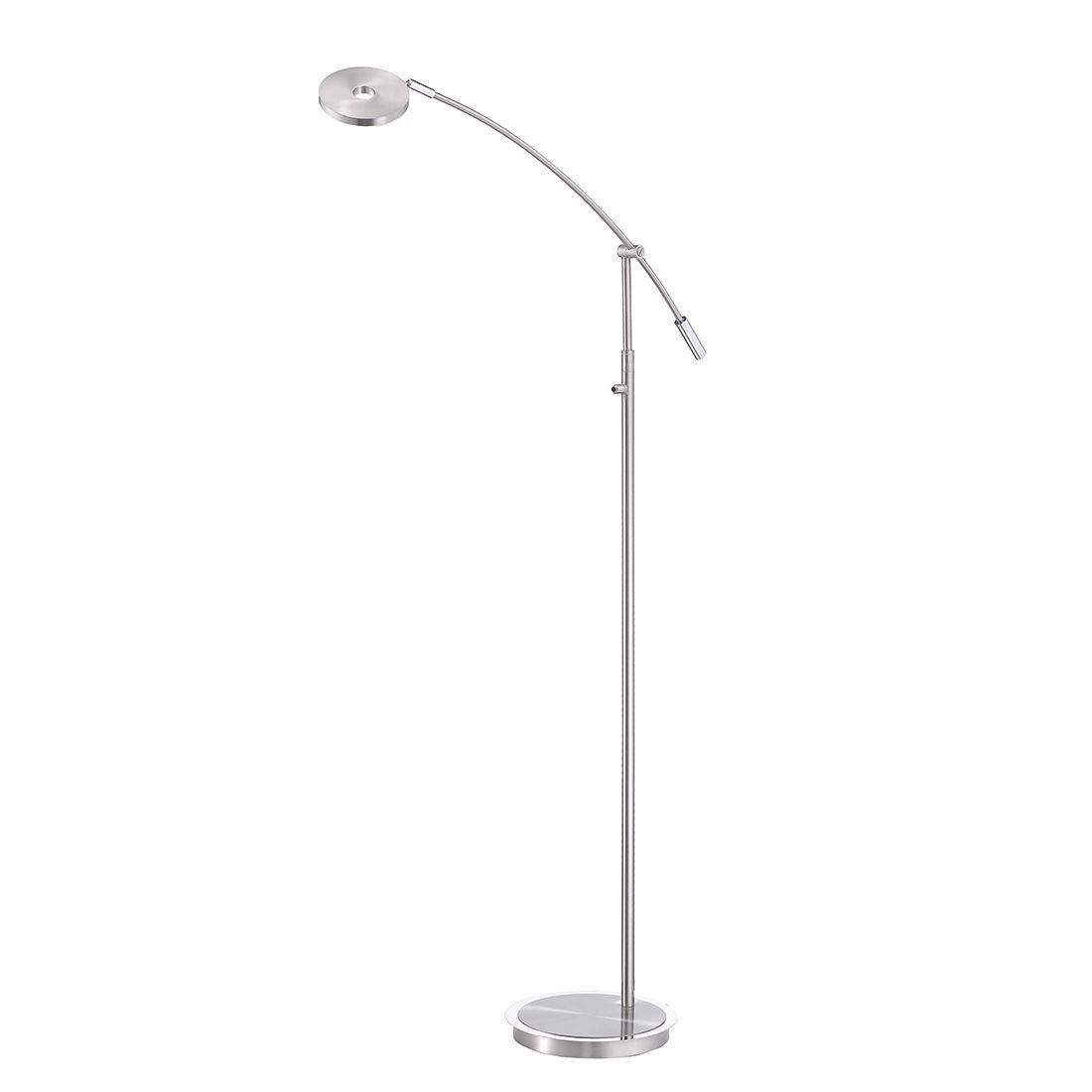 energie  A+, Staande lamp Darà - mat nikkelkleurig/verchroomd metaal 1 lichtbron, FLI Leuchten