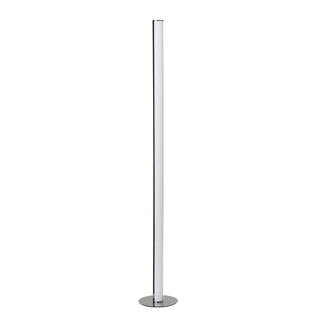EEK A+, Lampadaire Tube - Métal / Matériau synthétique Argenté 1 ampoule, Brilliant