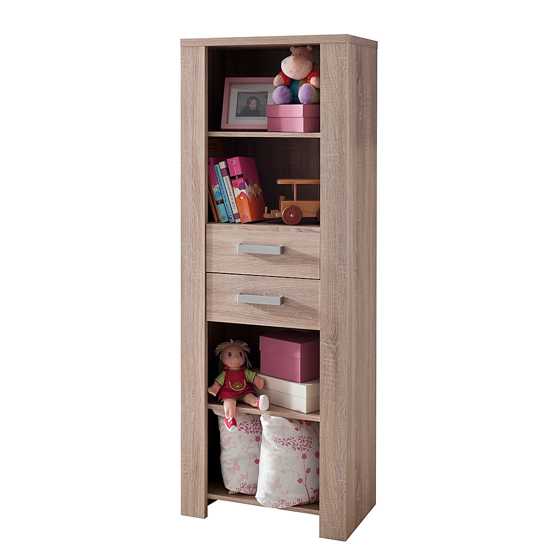 Open kast Henri   onbehandelde eikenhouten look_ Kids Club Collection