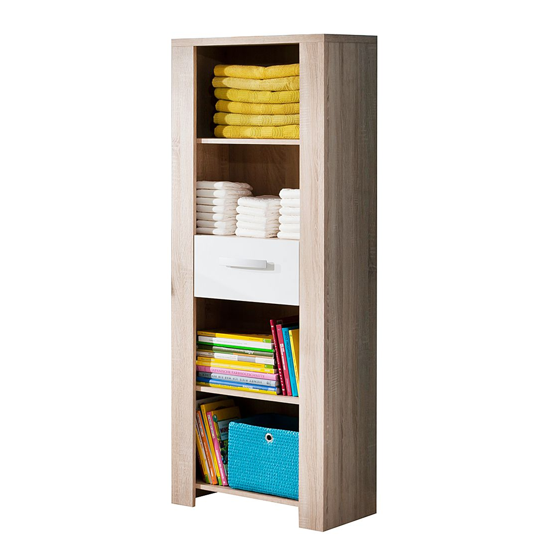 Home 24 - Etagère henri - imitation chêne brut de sciage / blanc, kids club collection