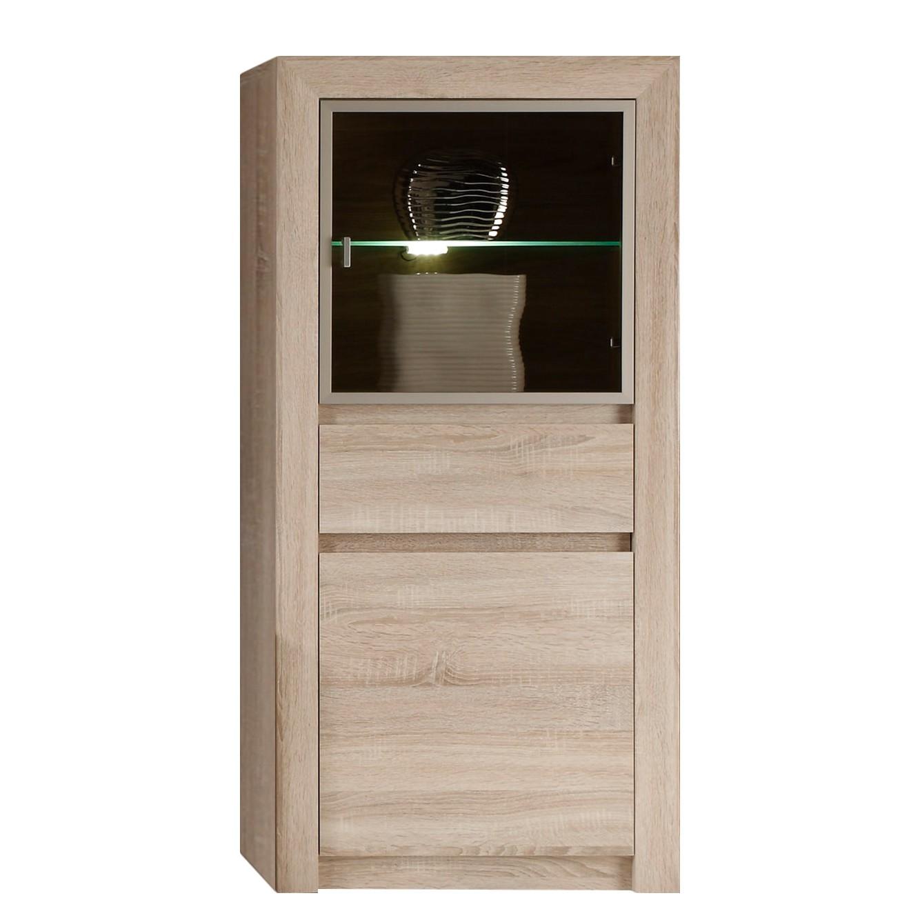 Home 24 - Eek a+, vitrine santandria i - avec éclairage imitation chêne clair sonoma, trendteam