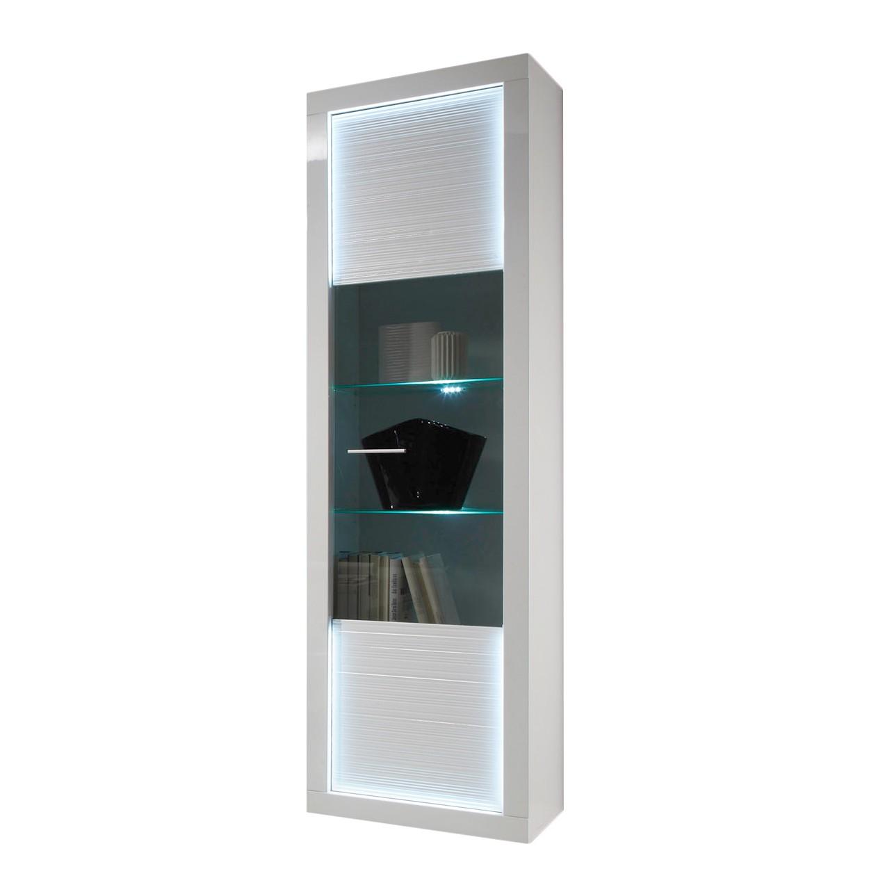 energie  A+, Staande vitrinekast Tolanaro II (inclusief verlichting) - hoogglans wit/wit, Trendteam