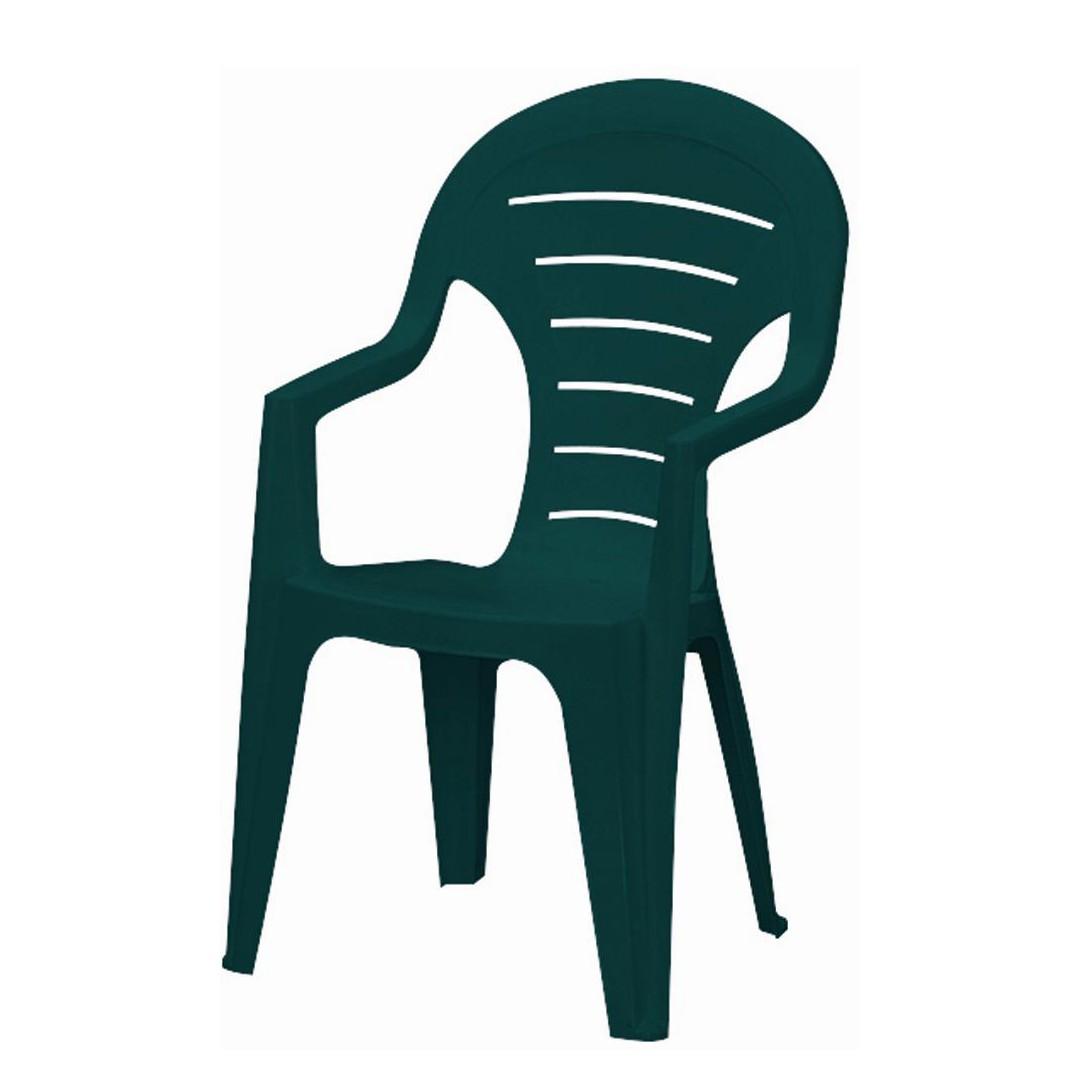 Stapelstuhl Bonaire - Kunststoff - Grün, Jardin