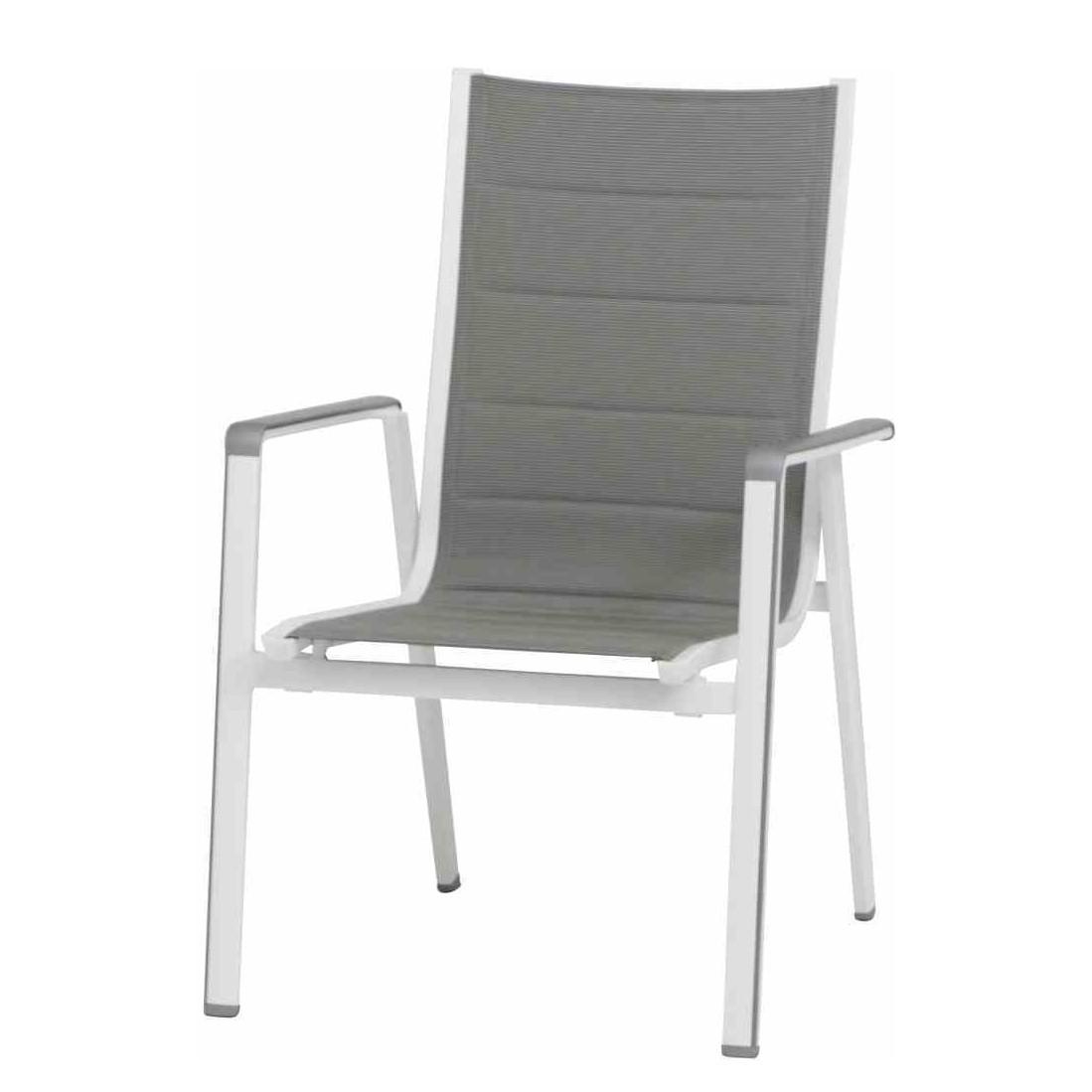 Stapelstuhl Futosa - Kunstfaser / Aluminium - Grau, Mwh