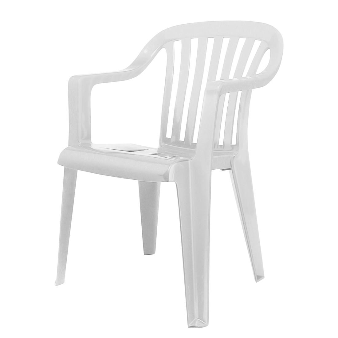 Stapelstuhl Memphis - Kunststoff - Weiß, Best Freizeitmöbel
