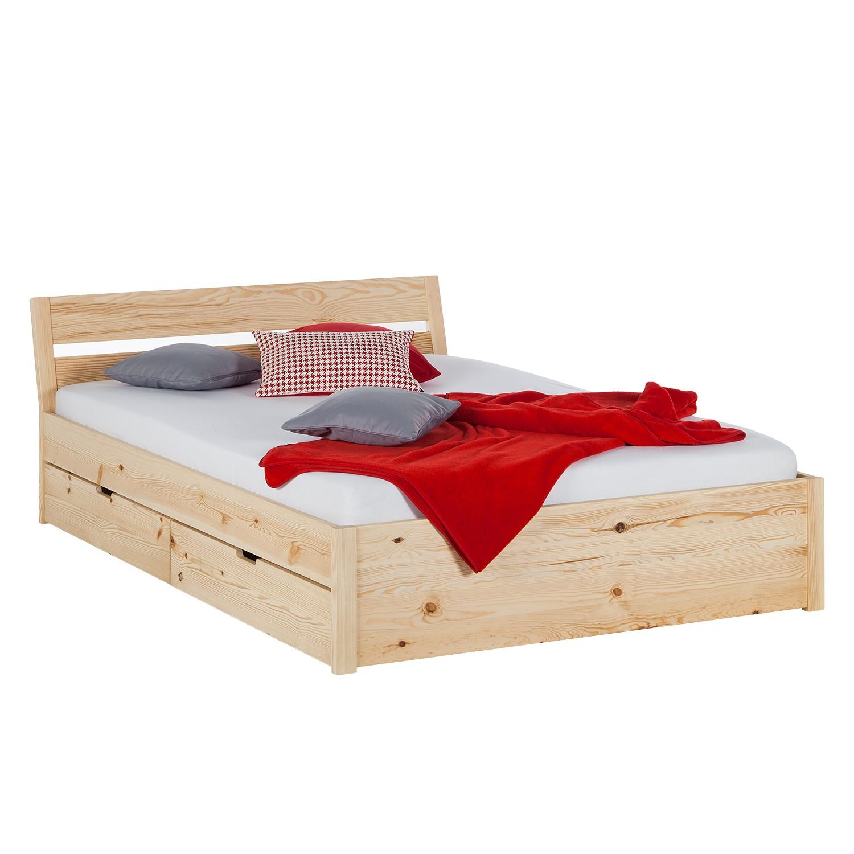 La redoute lit pin laque avec sommier prix et offres dolidoo - Lit en bois avec tiroir ...