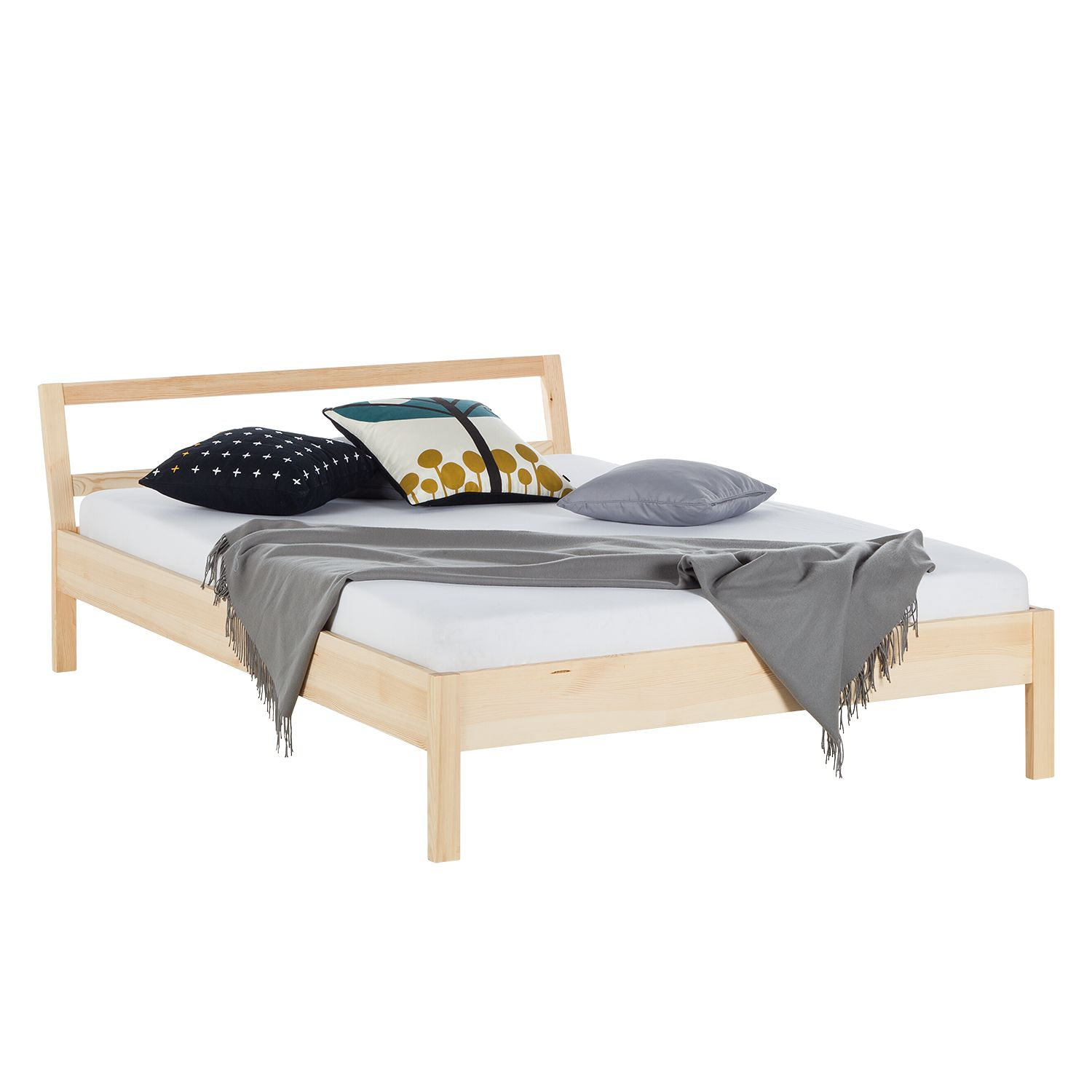 Massief houten bed KiYDOO wood - massief grenenhout, mooved