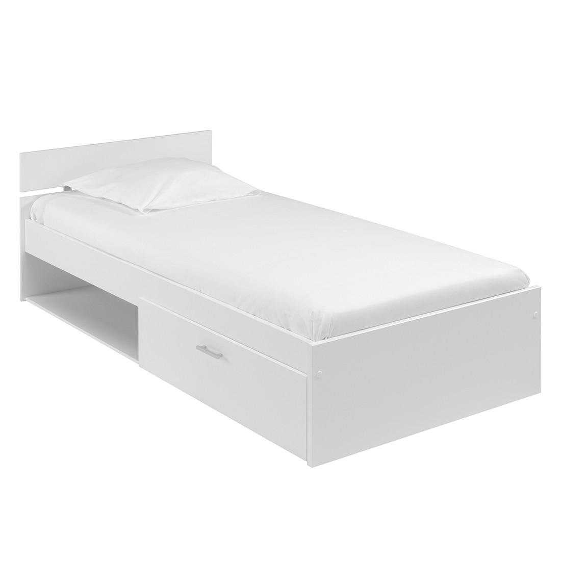 Lit avec rangements Infinity - 90 x 200cm - Blanc, Parisot Meubles