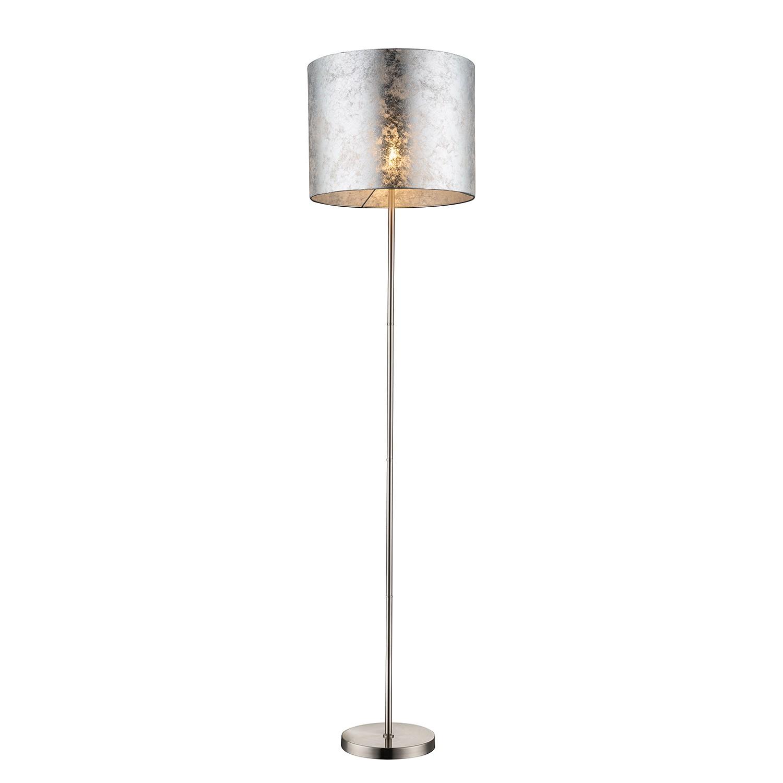 EEK A++, Lampadaire Amy I - Tissu / Métal - 1 ampoule - Argenté / Nickel, Globo Lighting
