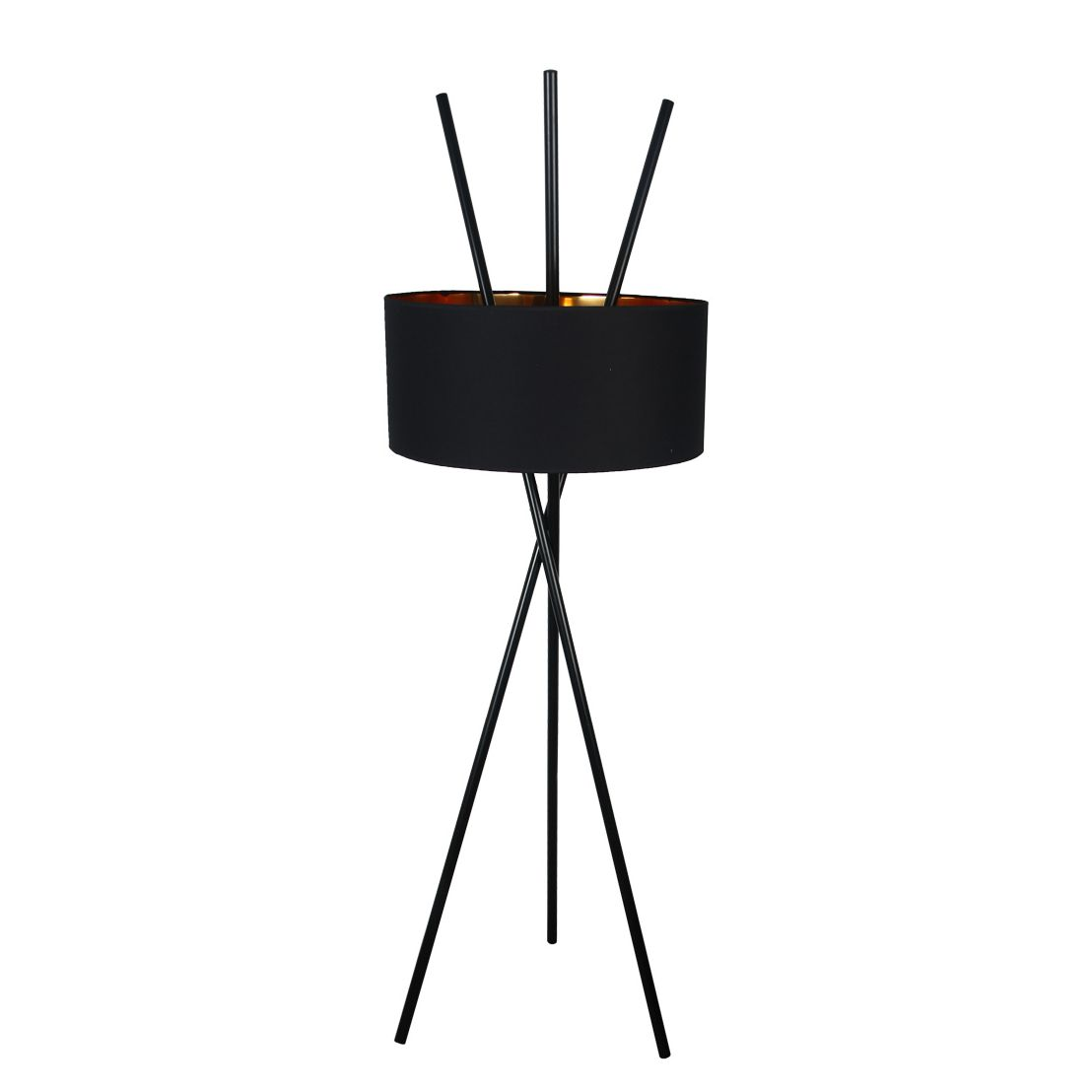 Stehlampe clipart  Stehleuchte Tripod Aton - Webstoff / Metall - Fashion For Home