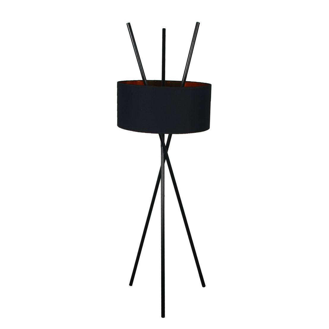 EEK A++, Lampadaire Tripod Aton - Tissu / Métal - 1 ampoule - Noir, Loistaa