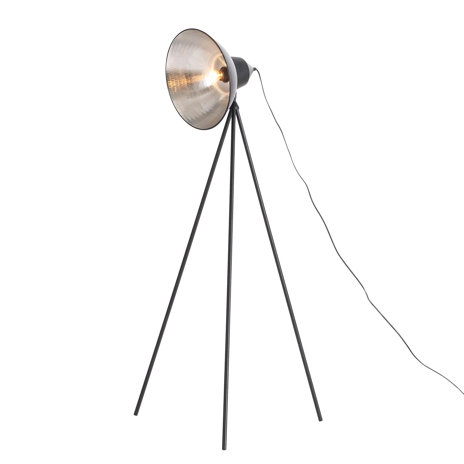 EEK A++, Lampadaire Tripod Detroit - Noir 1 ampoule, Loistaa