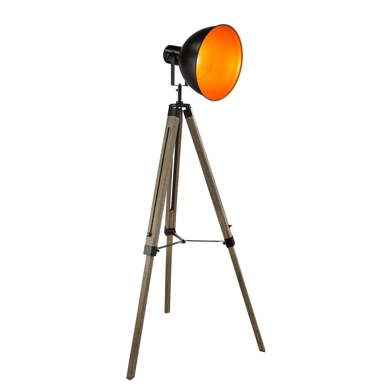 EEK A++, Lampadaire Evy I - Métal / Pin massif - 1 ampoule, Globo Lighting