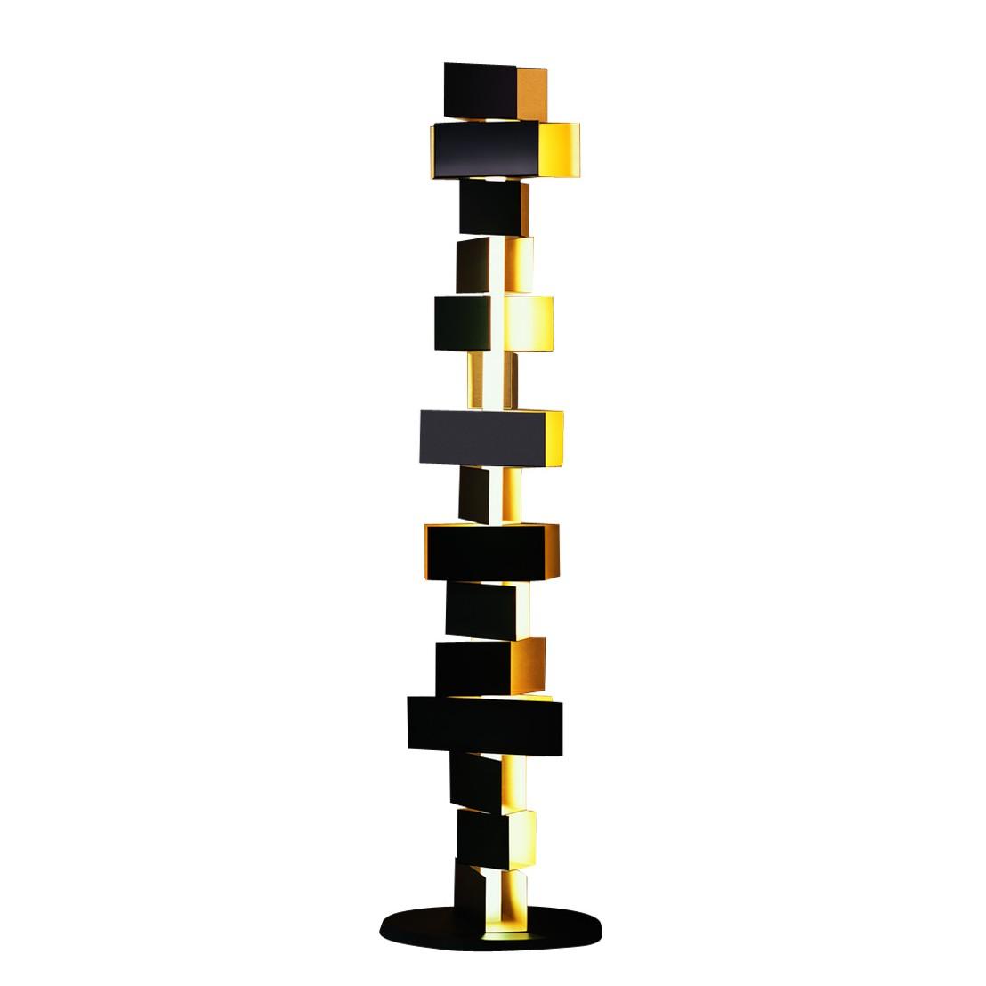 Leuchtstoff-Stehleuchte Gemma - Aluminium - 1-flammig