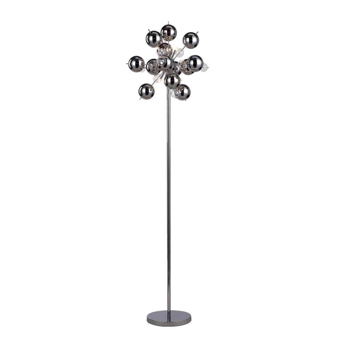 EEK A++, Lampadaire Glasball Explosion - Argenté Métal 6 ampoules, Näve