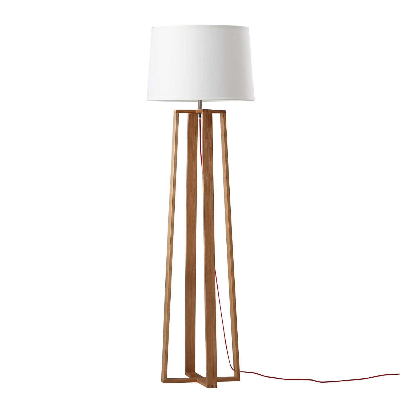 EEK A++, Lampadaire Kabila - Frêne massif / Tissu - 1 ampoule, Eva Padberg Collection