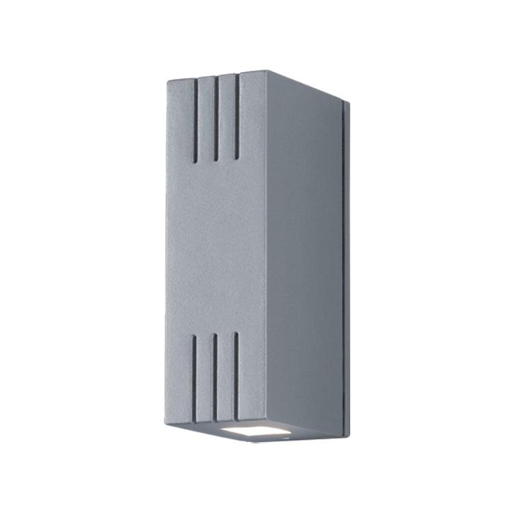 energie  A+, Buitenlamp Kick - aluminium zilverkleurig, Helestra
